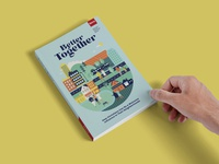 Better Together vibrant colorful neighborhood neighbors people community book cover design soft cover book cover illustration