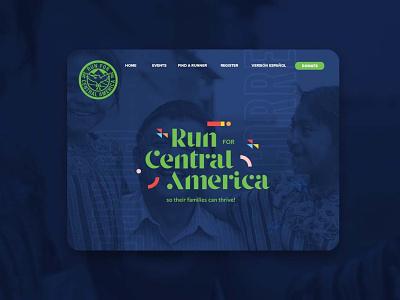 Run for Central America run race logo web banner banner homepage webpage fun geometric colorful branding design central america latin branding