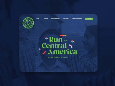 Run for Central America run race logo web banner banner homepage webpage fun geometric colorful branding design central america latin branding