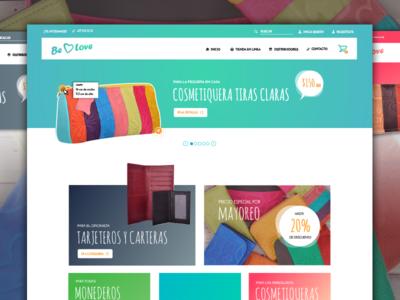 Gradient e-commerce UI