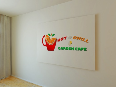 Hot & Chill Coffee shop logo - Garden cafe coffeeshop user interface design user experience userinterface branding design adobe photoshop adobe xd artwork design art logos illustration illustrator photoshop adobe xd designer logotype logo graphic  design graphic design graphicdesign graphic