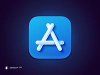 The App Store Icon (macOS Big Sur) wwdc 3d madeinaffinity big sur icon macos
