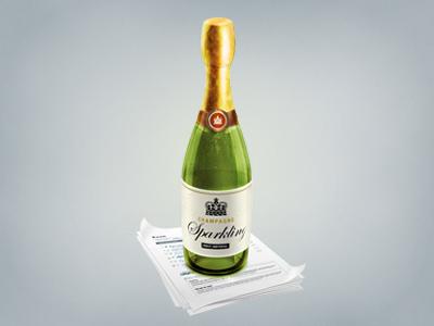 Champagne bottle for Sparklingapp bottle glass champagne