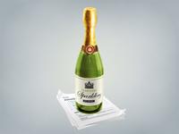 Champagne bottle for Sparklingapp