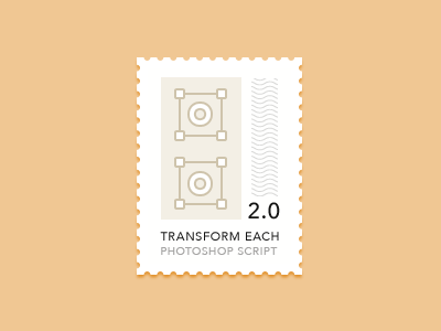 Transform Each 2.0 for Photoshop script photoshop