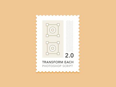 Transform Each 2.0 for Photoshop script photoshop