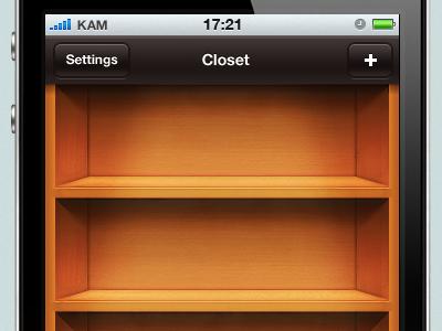 Shelves wooden shelves gui ios iphone