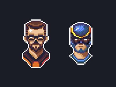Pixel Dudes half-life aseprite pixelart
