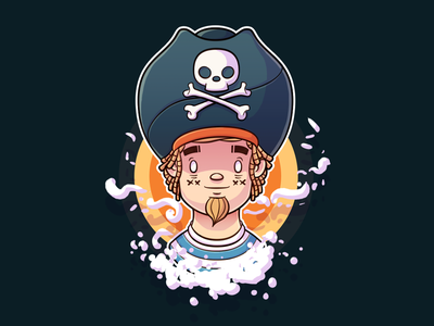 Pirate Doodle illustration character pirate