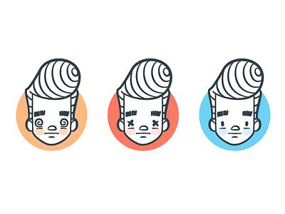 (×_×) illustration character