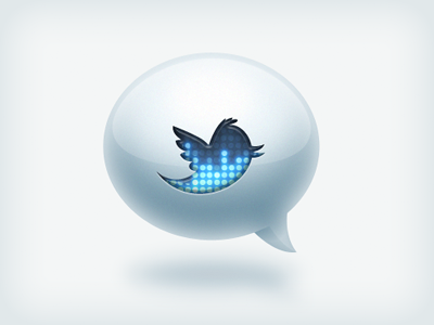 Trendy Twitter Icon icon twitter siri bubble