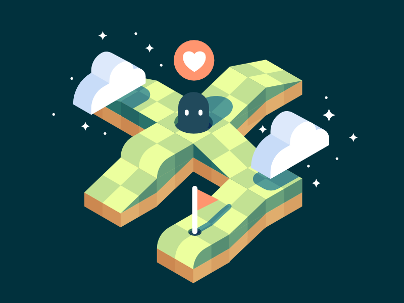 Isometric Platforms affinity game illustration isometric