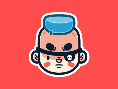 Pirate Boy character illustration affinity cartoon pirate stickers