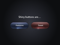 Shiny buttons are…