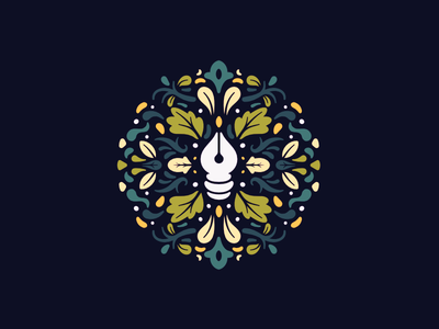 🖋 floral affinity designer vector pattern illustration icon