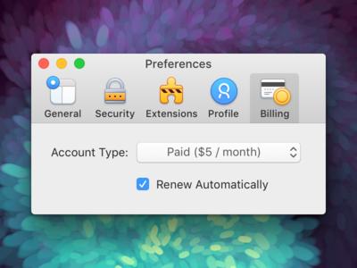 Preferences (macOS Toolbar Icons)