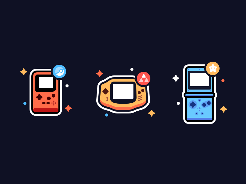Handheld Icons gameboy vector icon