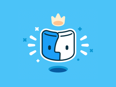 The King madeinaffinity vector character mac icon illustration