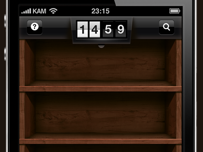 Wooden shelves ios iphone gui wood retina shelves flip clock pingwire