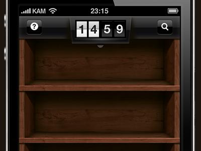 Wooden shelves ios iphone gui wood retina shelves flip clock pingwire