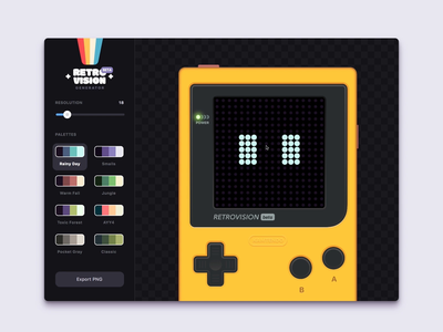 Image Processing App (Vue.js + WebGL shaders) retro gui interface ui app p5.js p5js vuejs vue.js webgl game boy