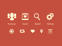 Tab and Toolbar Icons