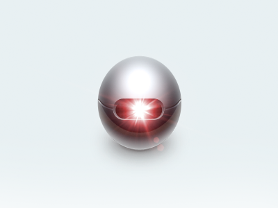 Metal Egg thing egg icon ball flare red cold metall bomb