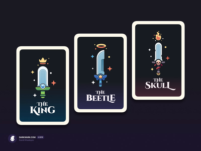 RPG Swords Cards tabletop game art cards madeinaffinity dndarmory illustration