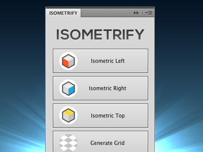 Isometrify photoshop panel isometric