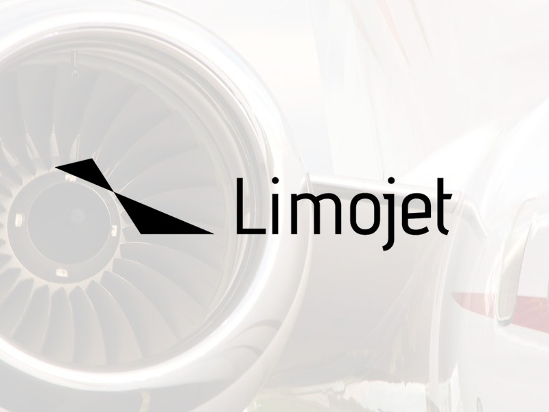 Limojet Identity - World-Class Aircraft Management plane charter private white black clean minimal jet limo identity logo branding