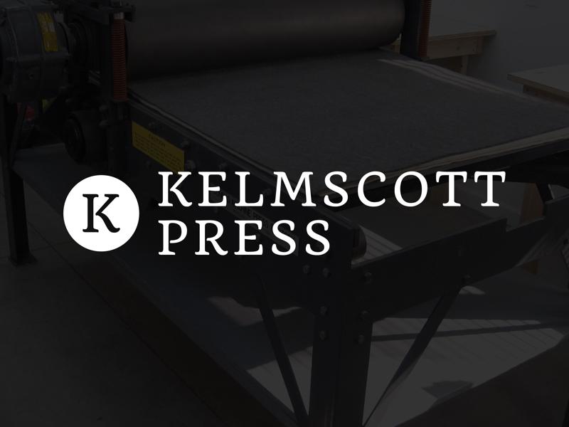 Kelmscott Press - Committed to Print minimal clean logo branding identity k circle press print printing