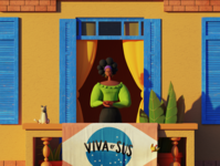 Stay Home, Stay Positive animation 3d illustration