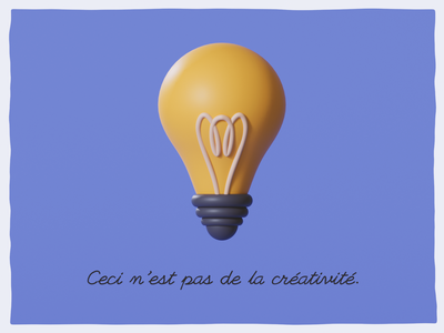 This is not creativity design lamp illustration 3d
