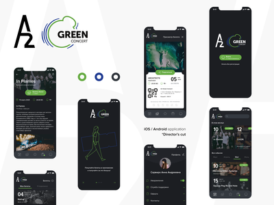 A2 Green Concert ux ui music hall music mobile design interaction figmadesign entertainment culture club application activities
