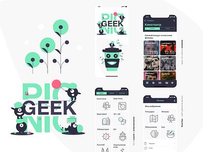 Geek Picnic mobile illustration ios application design interaction design ux ui