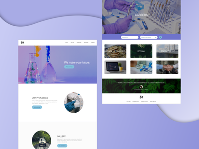 InGen Landing Page ux ui landing page renew modernised modern fan art concept jurassic park nerd web design science and technology careers purple simple lab science landingpage landing web