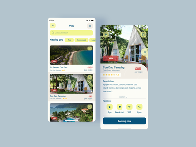 Villa Booking App villa dribbble web userinterface uiux app design minimal website ux ui