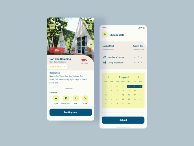 Villa Booking App dribbble villa userinterface uiux minimal website design app ux ui