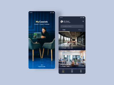 Coworking Space Booking App workspace app dribbble userinterface uiux minimal website ux ui