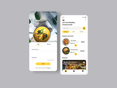 Food Delivery App dribbble app userinterface uiux minimal ux ui food app food