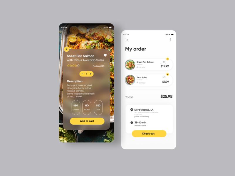 Food Delivery App design uiux userinterface minimal app ux ui food app food