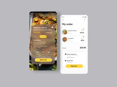 Food Delivery App design uiux userinterface minimal app ux ui food app food