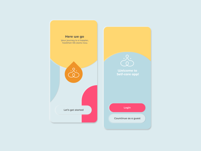 Neomorphism soft UI Design for Meditation App ui uiux userinterface dribbble design app minimal