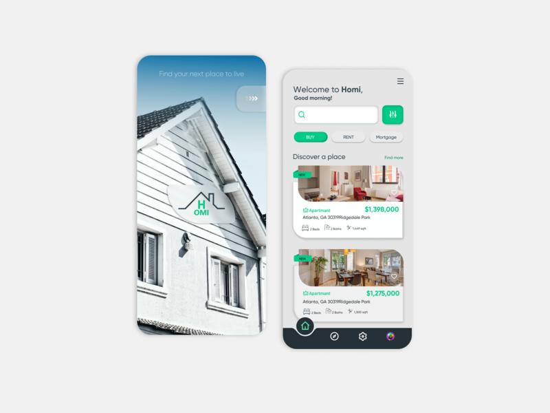 Real Estate Platform icon minimal app dribbble userinterface design ux