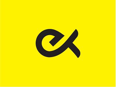 Letter E+K Logo flat branding lettering vector minimal logo design