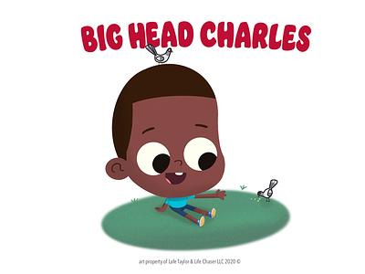 Big Head Charles confidence big head share black stories procreate melanin cute black boy joy kid picture book animation art illustration character design lafespaceart