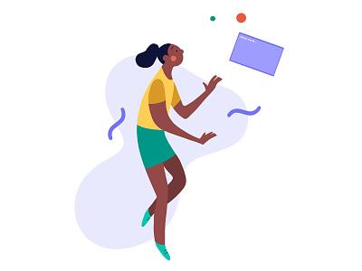 Black Girls Code black girl code female pixel art hand drawn simple graphic character design people character flat illustration