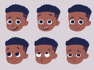 Expression sheet character design kidslit procreate pixel art design lafespaceart