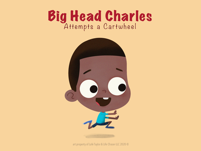 Big Head Charles procreate kid childrens book art character design art illustration animation design character lafespaceart