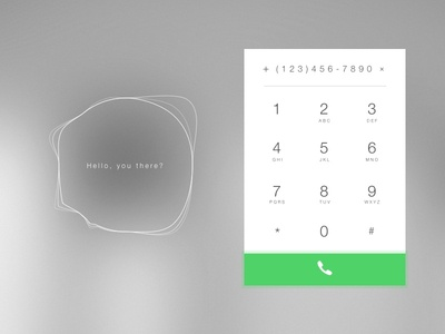 Day 003 - Dial Pad phone pad number minimal material interface dial day003 daily100 clean call app
